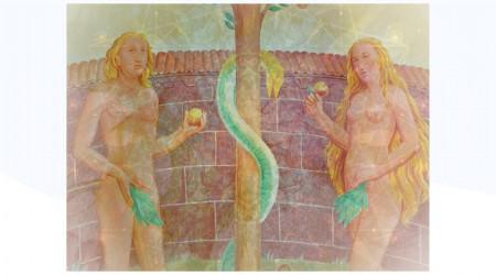 Adán y Eva, La manzana y la serpiente