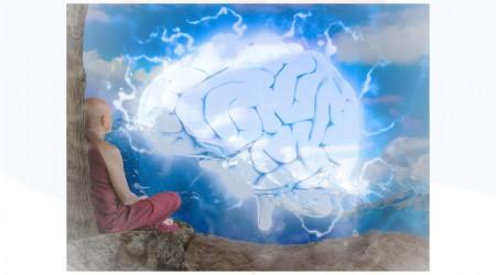 Actividad cerebral al meditar